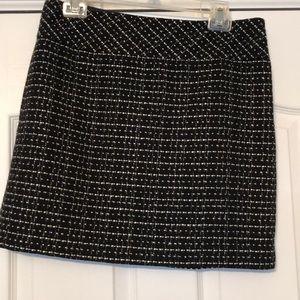 Ann Taylor loft woven tweed skirt